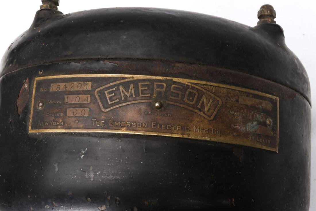 EMERSON ELECTRIC FAN MOTOR, WOODEN ADVTG CRATES - 10