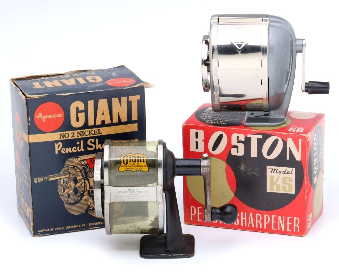 Boston 'KS' & 'Giant' Pencil Sharpeners, ORIG BOX