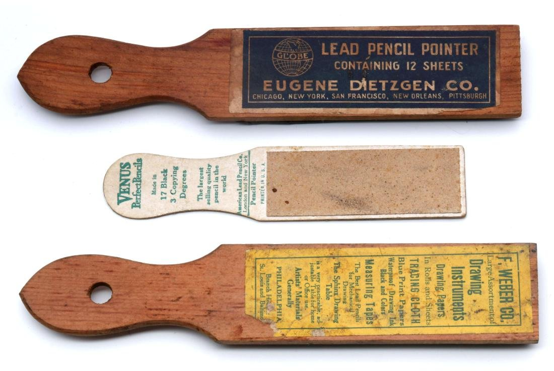 HAND-HELD ADVERTISING PENCIL POINTER STICKS C 1920