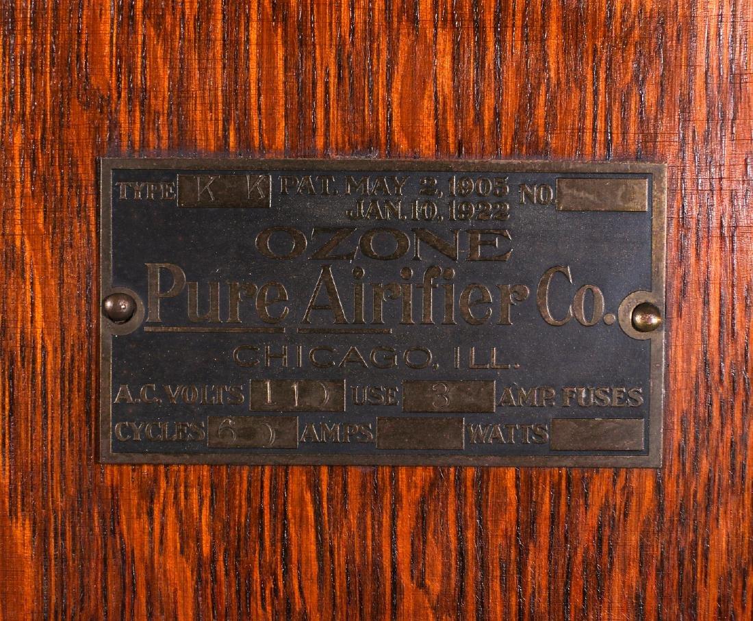 RARE OZONE PURE AIRIFIER FAN IN OAK CABINET C 1922 - 4