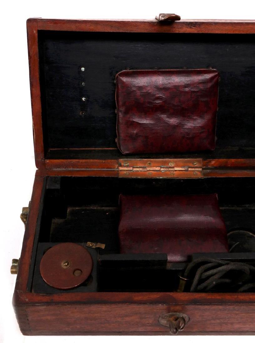 A BARR & STROUD BRASS RANGEFINDER IN CASE C 1890 - 2