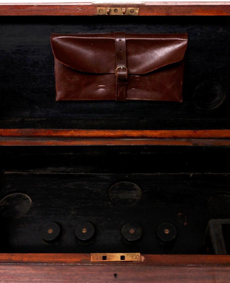 A BARR & STROUD BRASS RANGEFINDER IN CASE C 1890 - 3