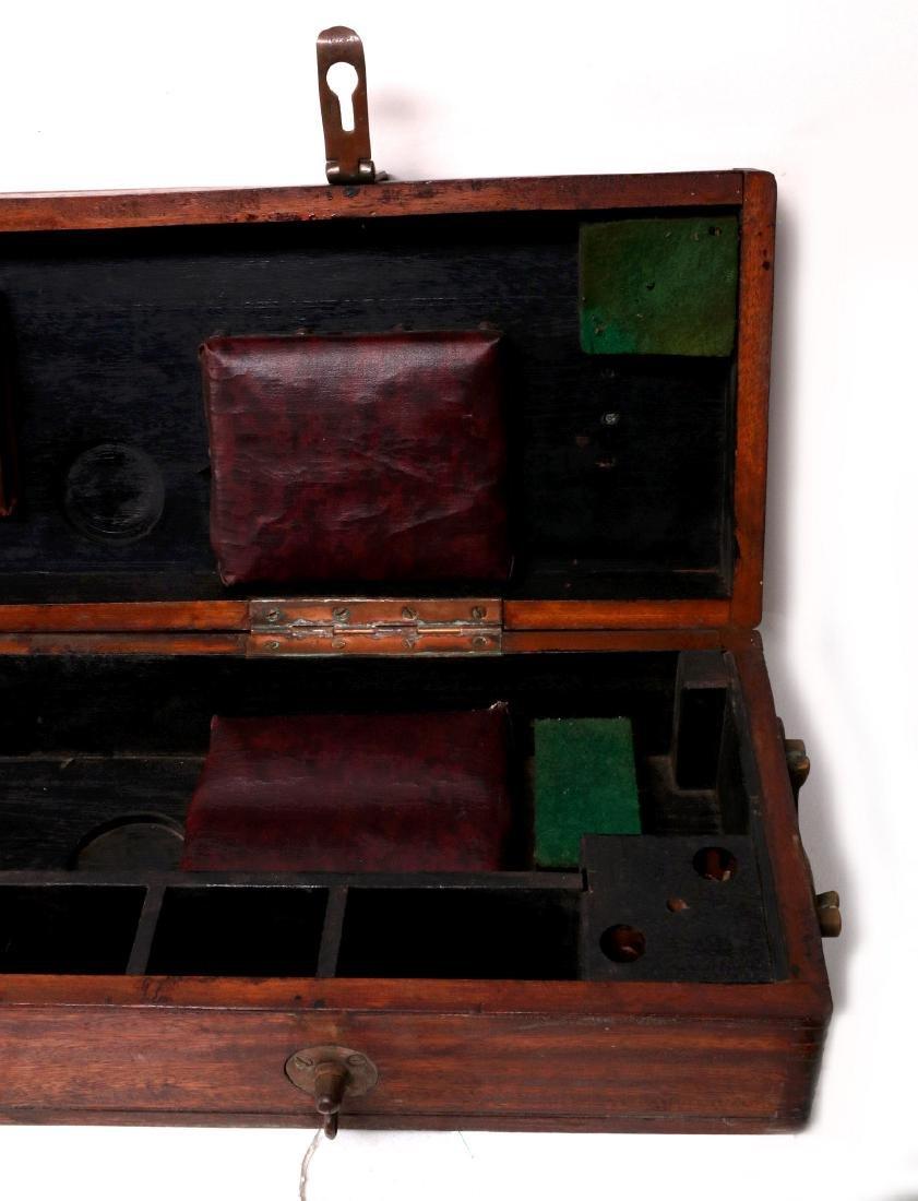 A BARR & STROUD BRASS RANGEFINDER IN CASE C 1890 - 4