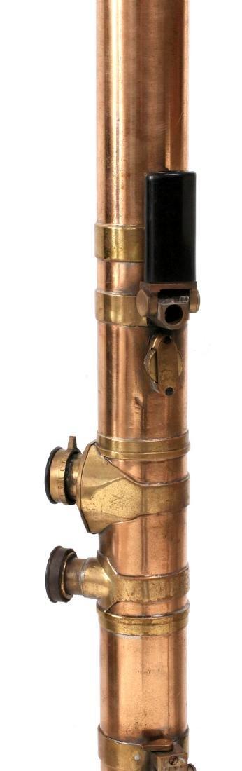 A BARR & STROUD BRASS RANGEFINDER IN CASE C 1890 - 7