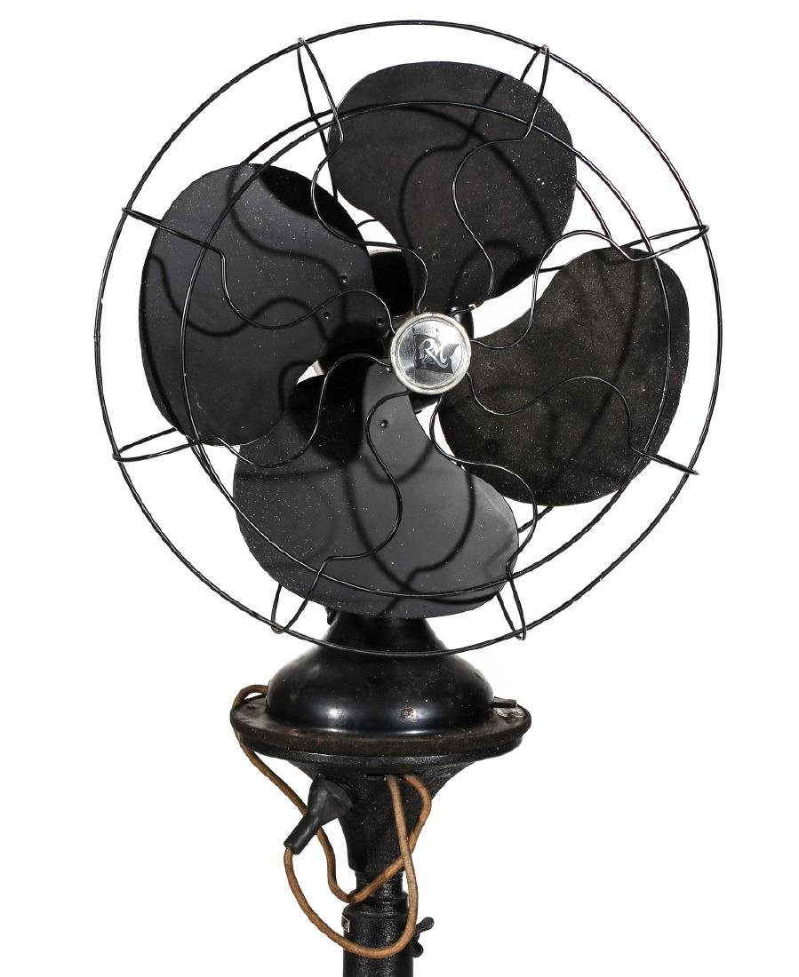 A ROBBINS & MYERS FLOOR STANDING FAN CIRCA 1930s