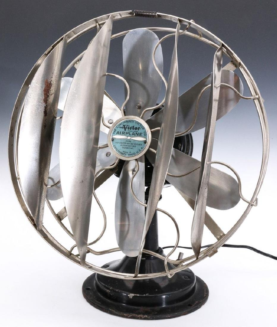 A VICTOR CO. 'AIRPLANE' FAN WITH BREEZE SPREADER