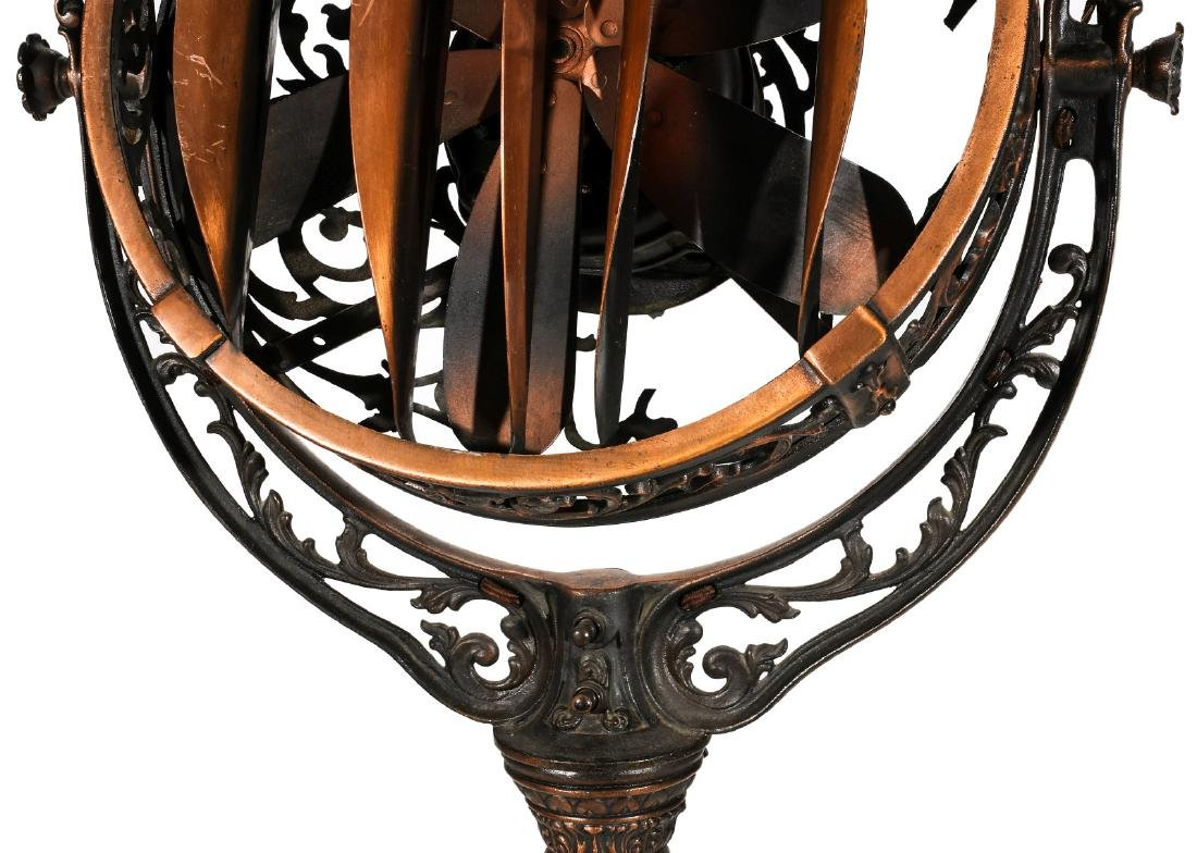 A VICTOR 'LUMINAIRE' FANCY STANDING LIGHTED FAN - 5