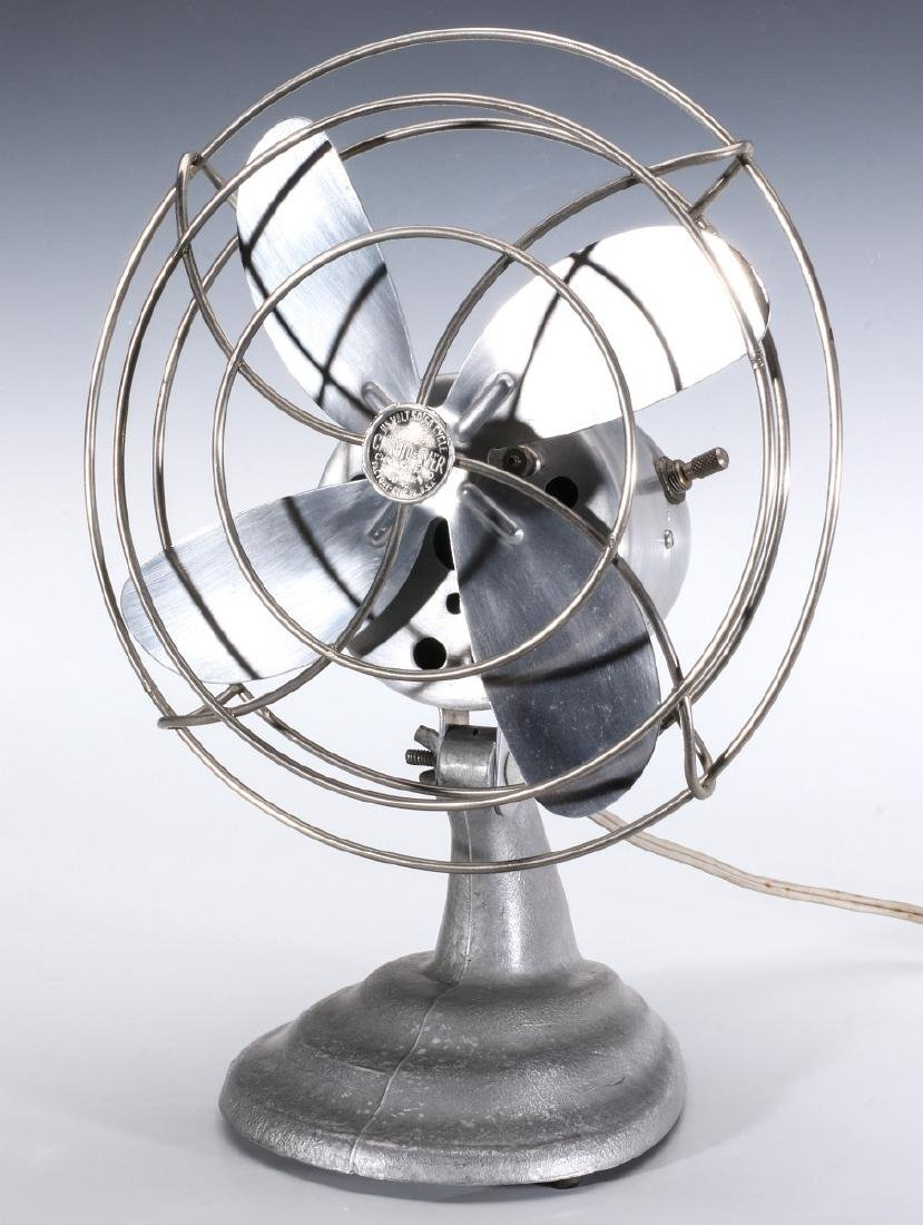A CHROM-EVER ART DECO INFLUENCE ELECTRIC FAN