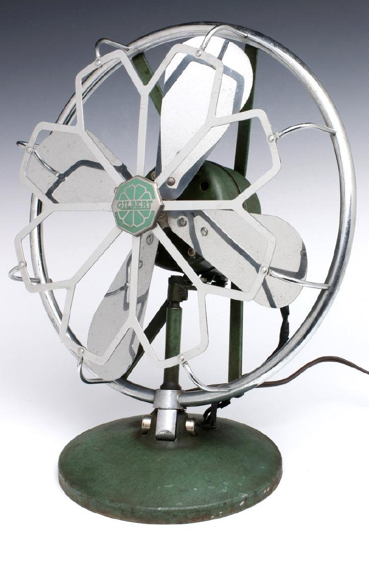 AN A.C. GILBERT ART DECO CHROME FAN, C. 1936