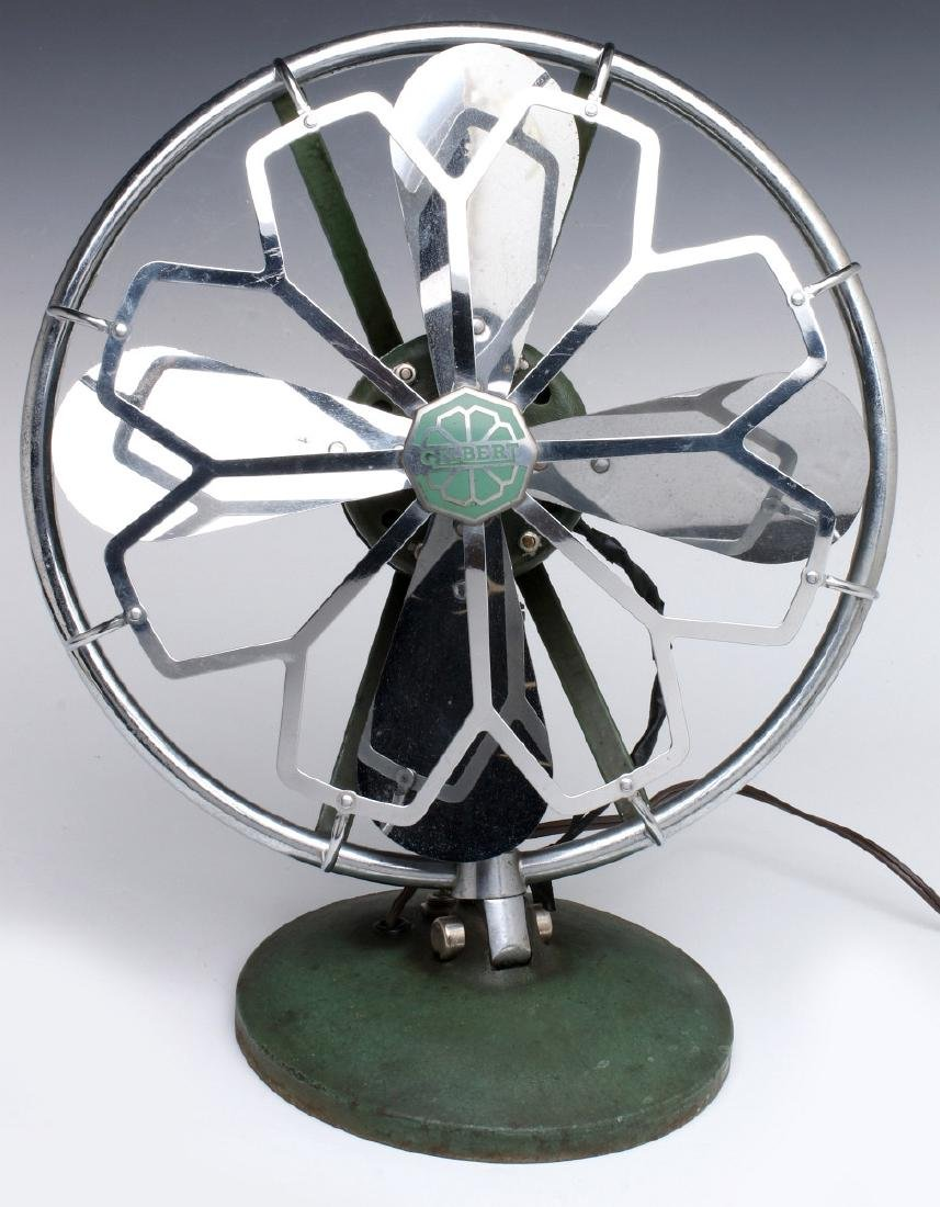 AN A.C. GILBERT ART DECO CHROME FAN, C. 1936 - 2