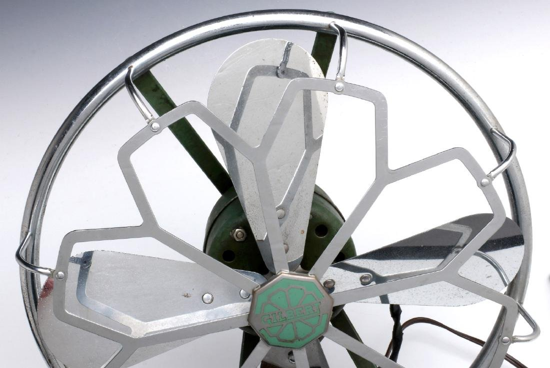 AN A.C. GILBERT ART DECO CHROME FAN, C. 1936 - 3