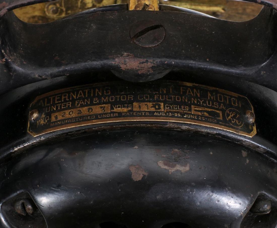 A HUNTER ELECTRIC FAN CIRCA 1901 - 10