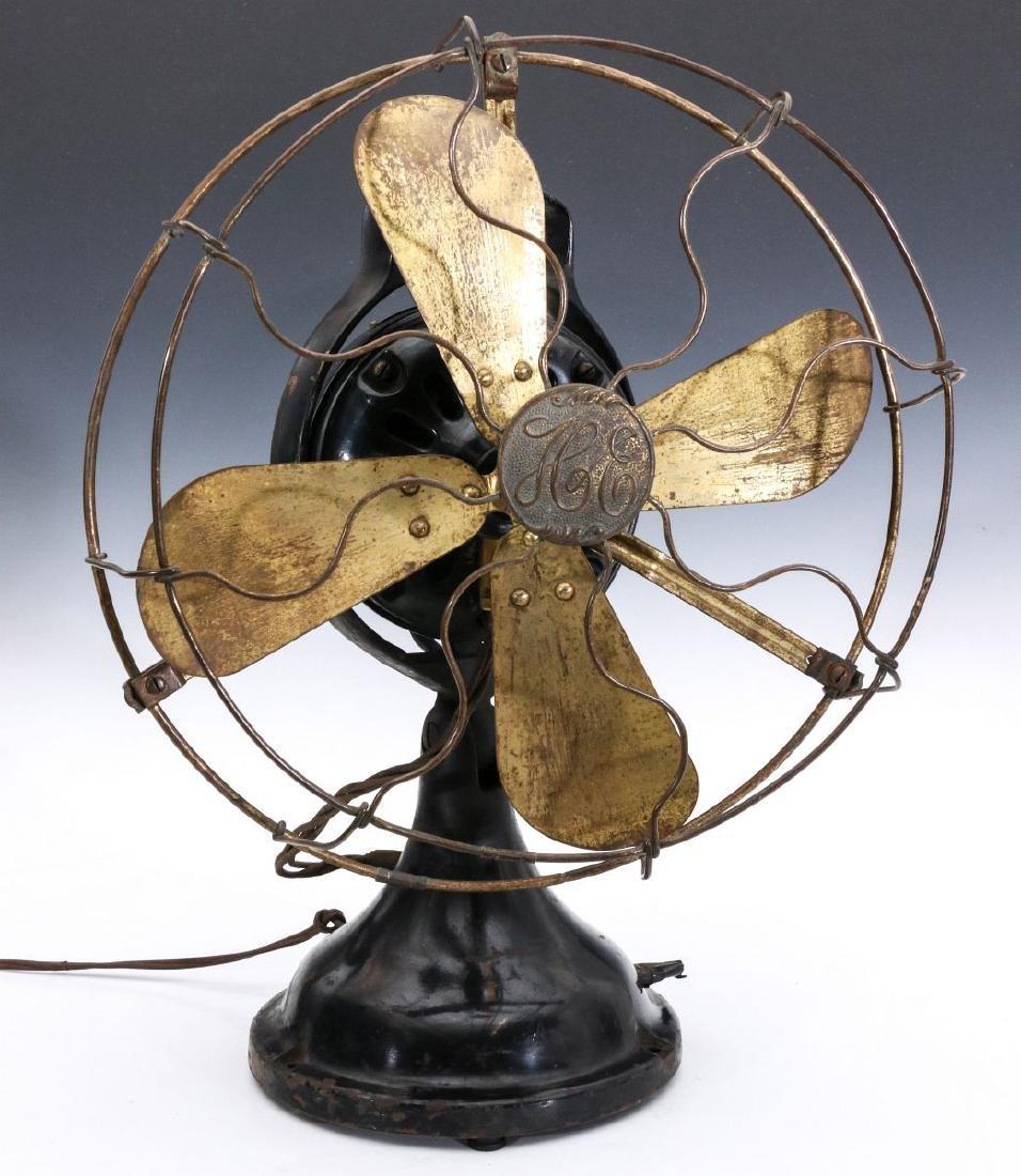 A HUNTER ELECTRIC FAN CIRCA 1901