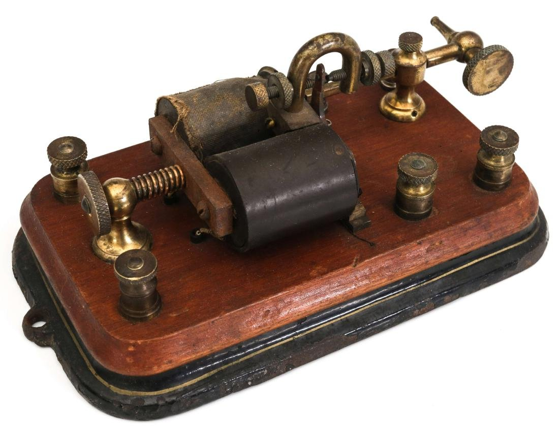 THREE MANHATTAN ELECTRICAL SUPPLY TELEGRAPH ITEMS