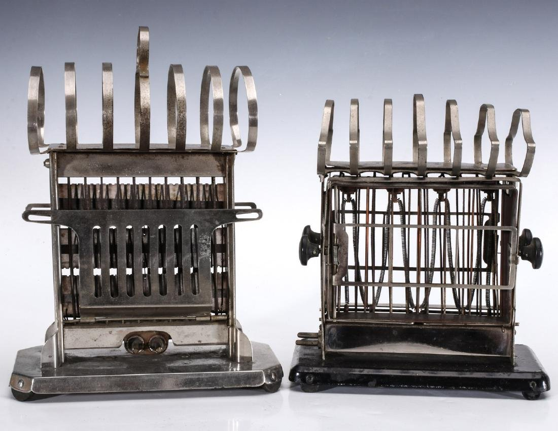 TWO EARLY ELECTRIC TOASTERS WITH UPPER TOAST RACKS - 7