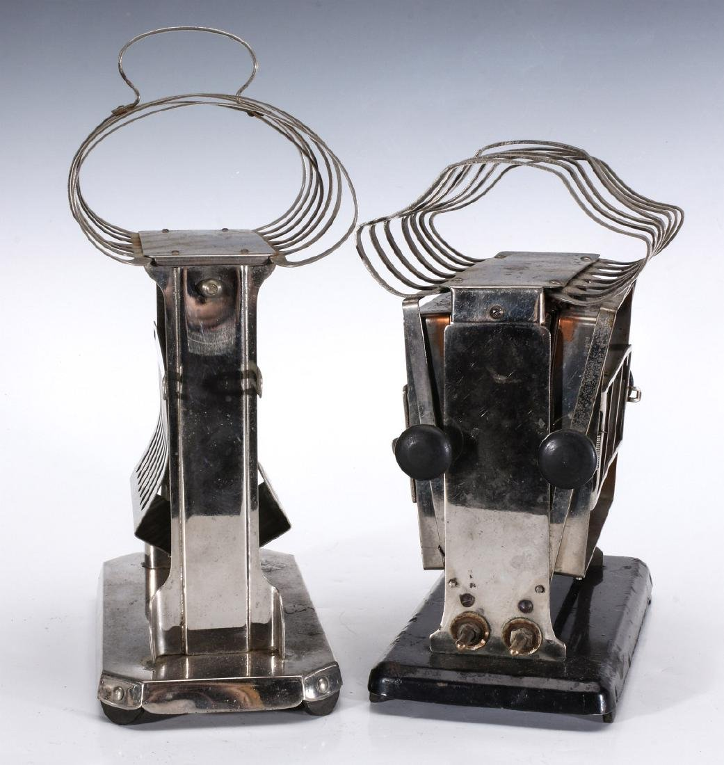 TWO EARLY ELECTRIC TOASTERS WITH UPPER TOAST RACKS - 8