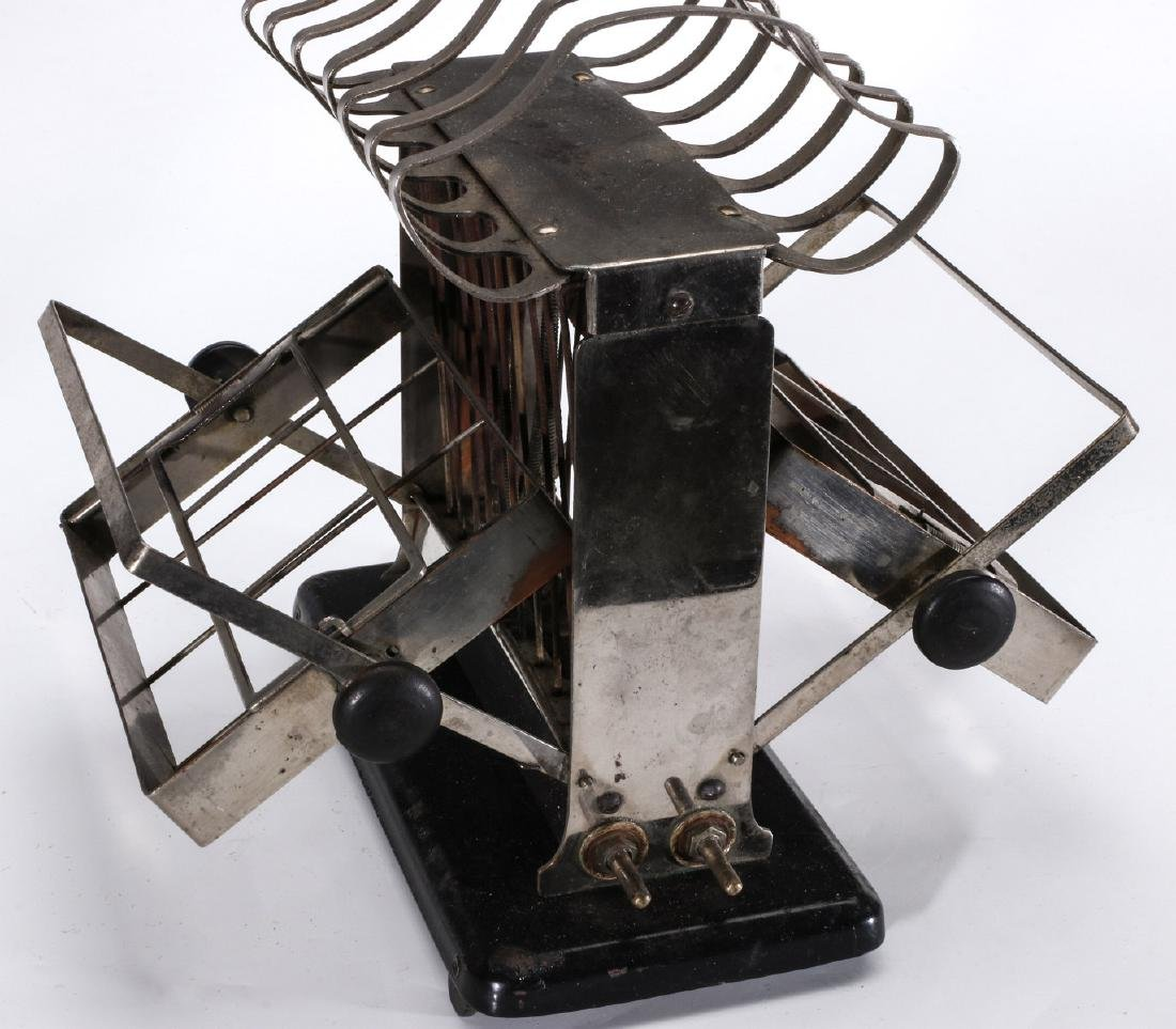 TWO EARLY ELECTRIC TOASTERS WITH UPPER TOAST RACKS - 9