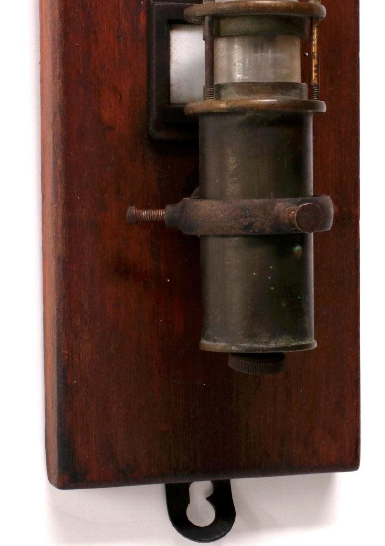 AN UNMARKED 19TH CENTURY STICK BAROMETER - 5