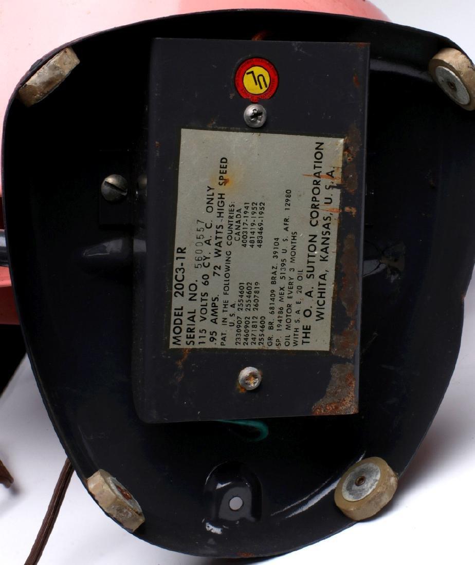 UNUSUAL VINTAGE PINK VORNADO 20C3-1R ELECTRIC FAN - 8