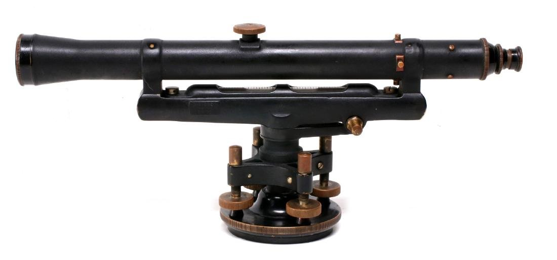 A DIETZGEN SURVEYOR TRANSIT IN WOOD CASE C 1920 - 10
