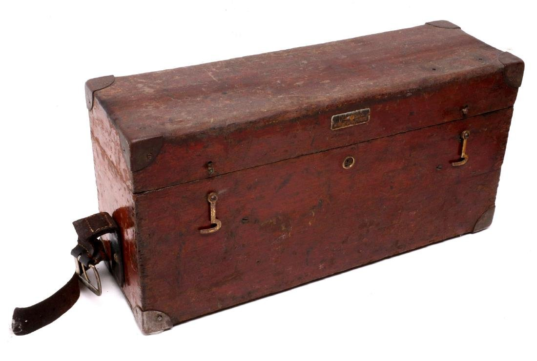 A DIETZGEN SURVEYOR TRANSIT IN WOOD CASE C 1920 - 3