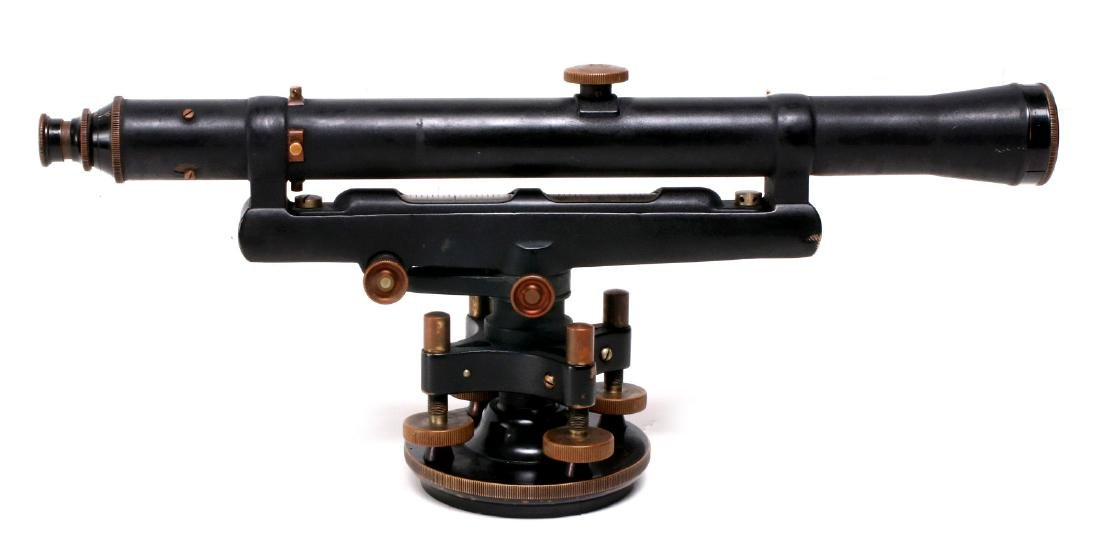 A DIETZGEN SURVEYOR TRANSIT IN WOOD CASE C 1920 - 5