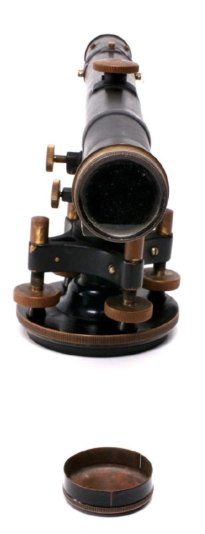 A DIETZGEN SURVEYOR TRANSIT IN WOOD CASE C 1920 - 9