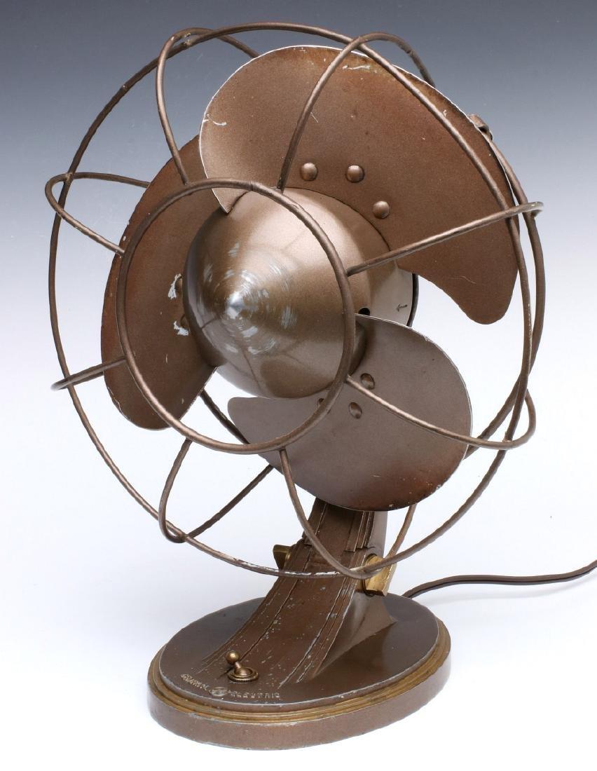 A GENERAL ELECTRIC ART DECO 'QUIET' FAN CIRCA 1932