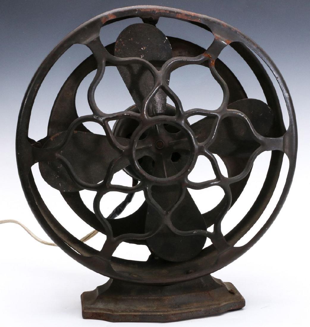 A ROBBINS & MYERS CO. ART DECO 'RADIO SPEAKER' FAN