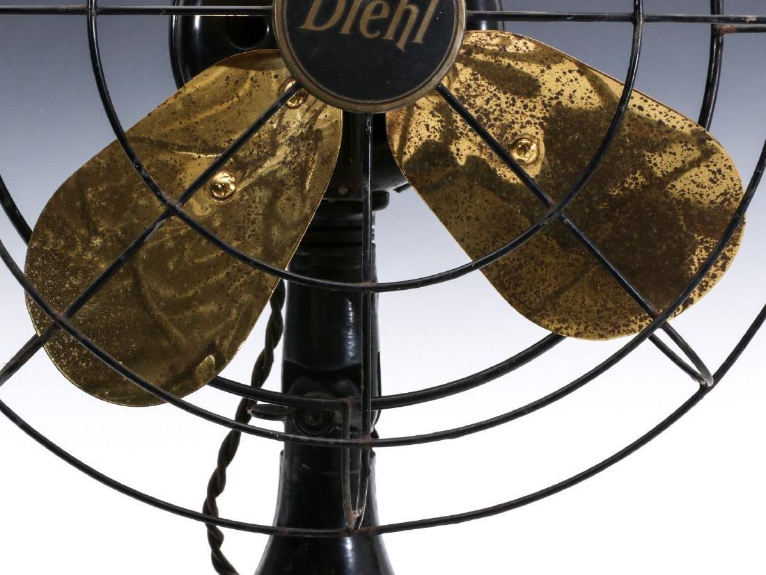 A DIEHL CO. BRASS BLADE ELECTRIC FAN CIRCA 1936 - 3