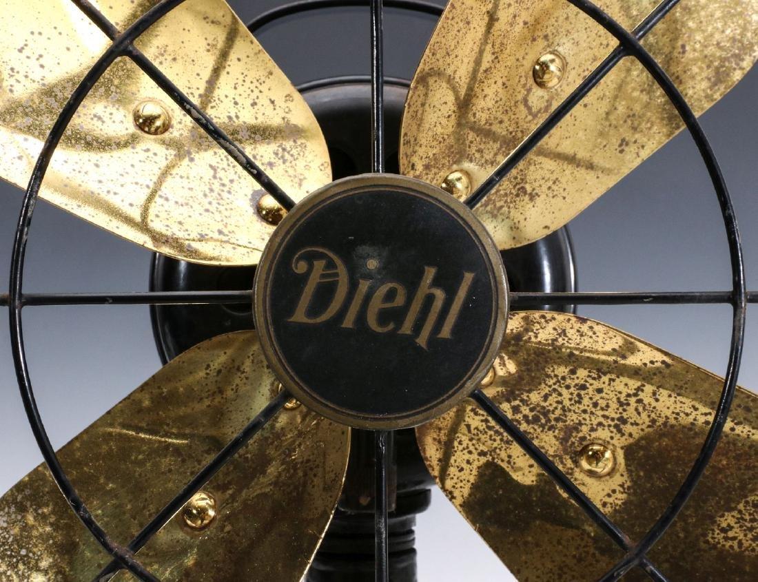 A DIEHL CO. BRASS BLADE ELECTRIC FAN CIRCA 1936 - 4