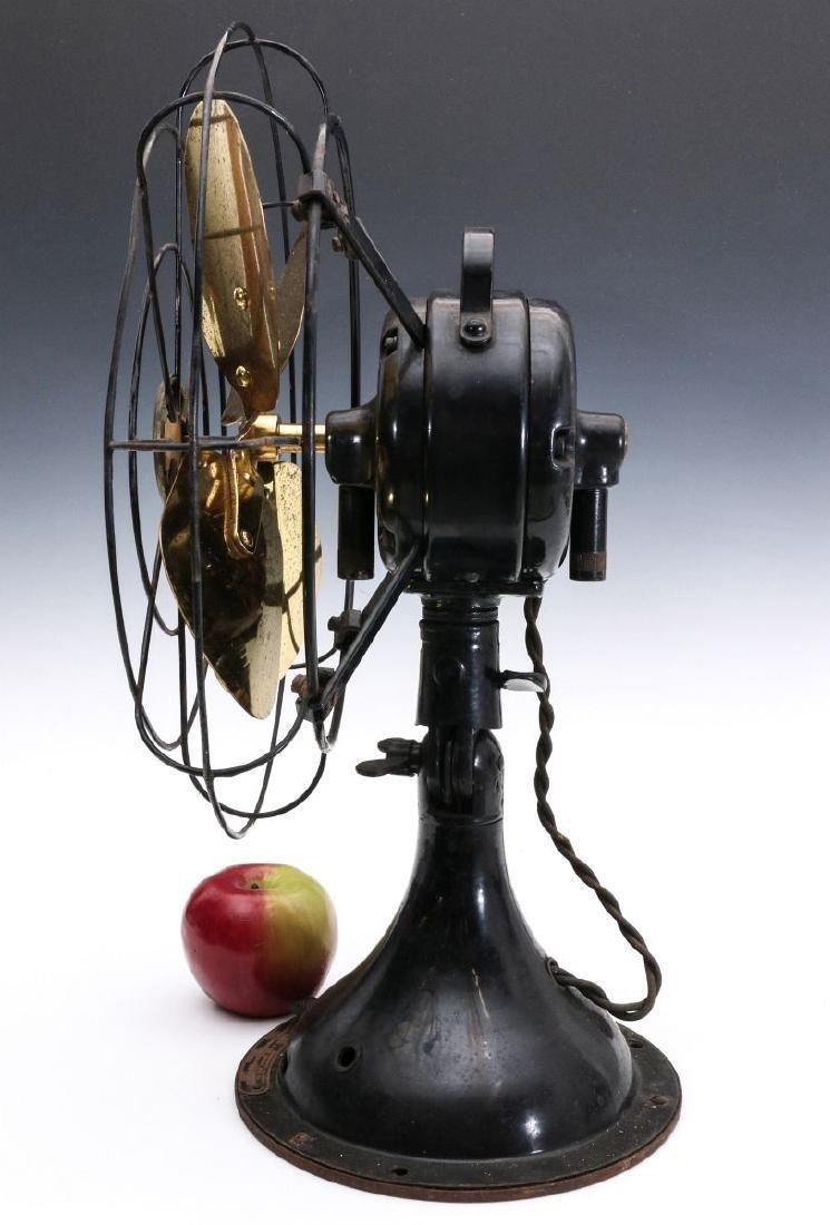 A DIEHL CO. BRASS BLADE ELECTRIC FAN CIRCA 1936 - 6