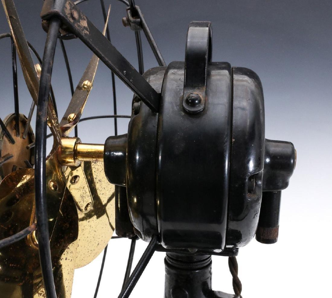 A DIEHL CO. BRASS BLADE ELECTRIC FAN CIRCA 1936 - 7