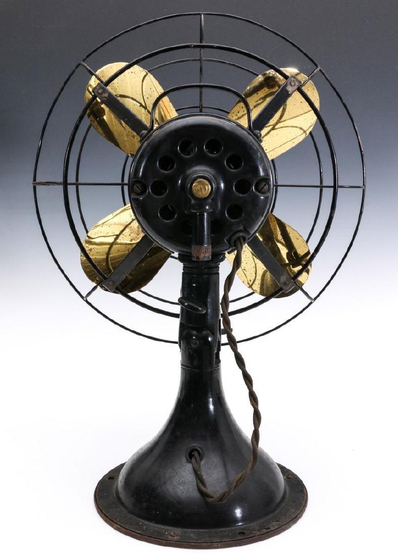 A DIEHL CO. BRASS BLADE ELECTRIC FAN CIRCA 1936 - 9