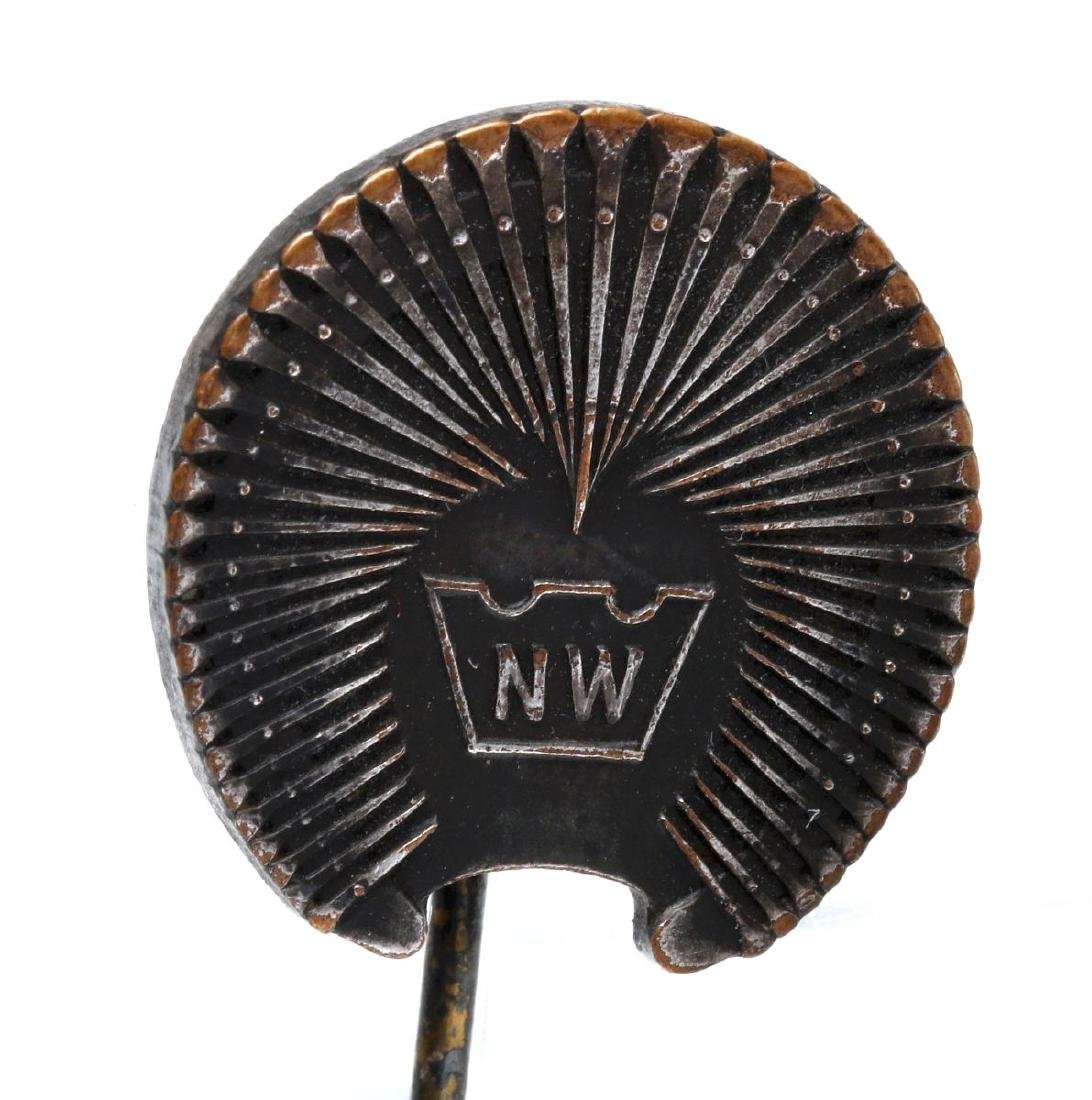 HORSE SHOE AND SHOE NAIL ADVERTISING FOBS & PIN - 5