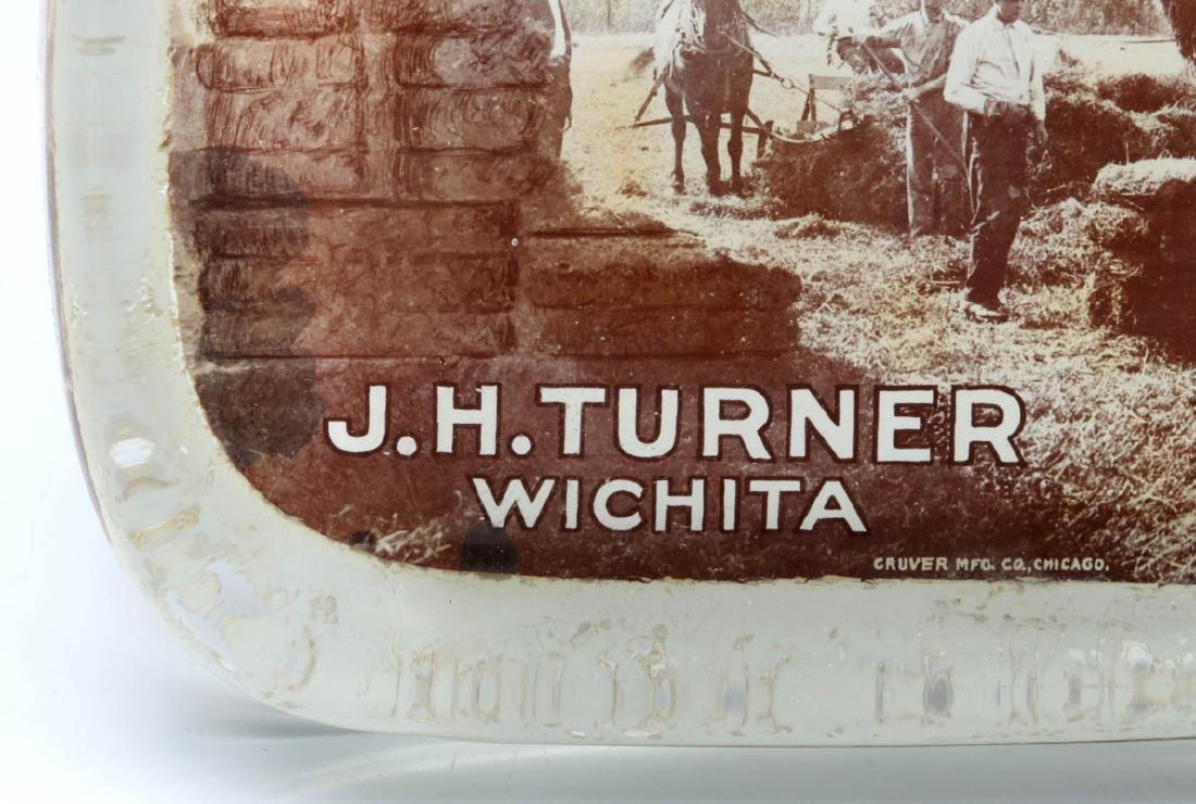 TURNER 'WHOLESALE HAY' WICHITA PAPERWEIGHT C. 1910 - 7