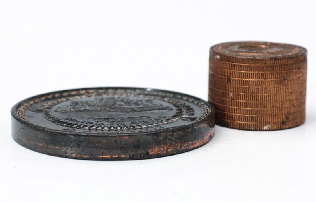 1923 STOCKMEN TABLE MEDAL AND PAPERWEIGHT - 6