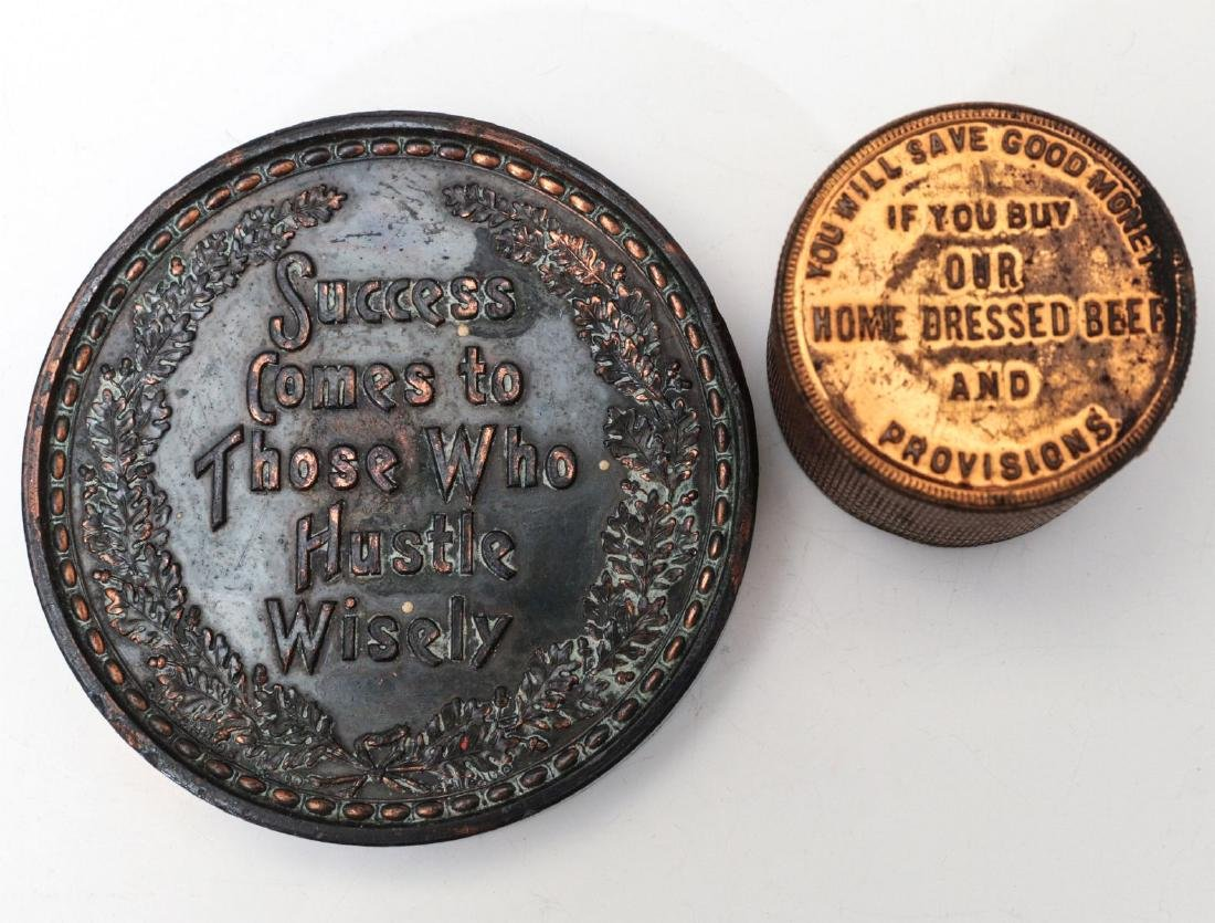 1923 STOCKMEN TABLE MEDAL AND PAPERWEIGHT - 7