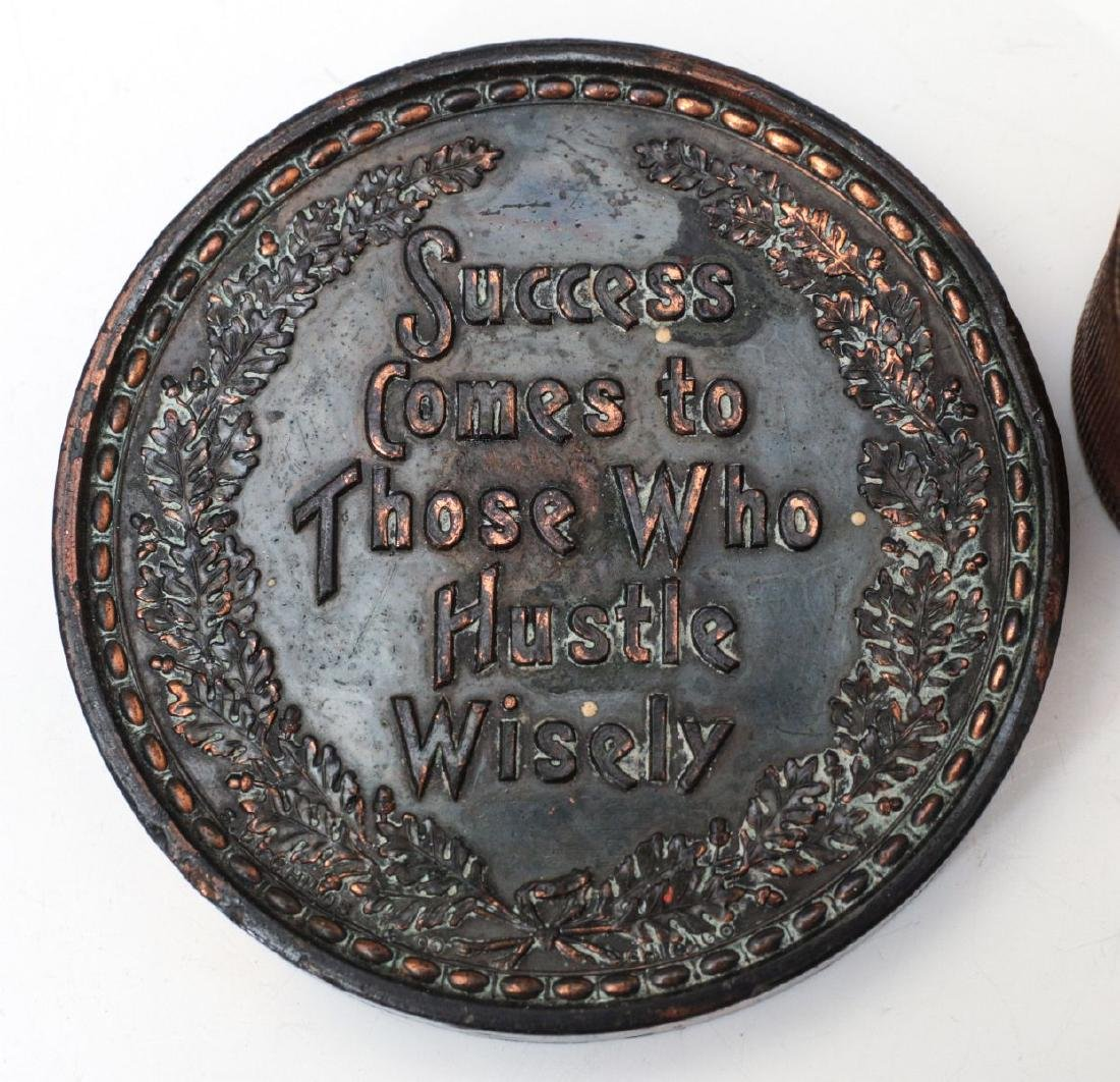1923 STOCKMEN TABLE MEDAL AND PAPERWEIGHT - 8