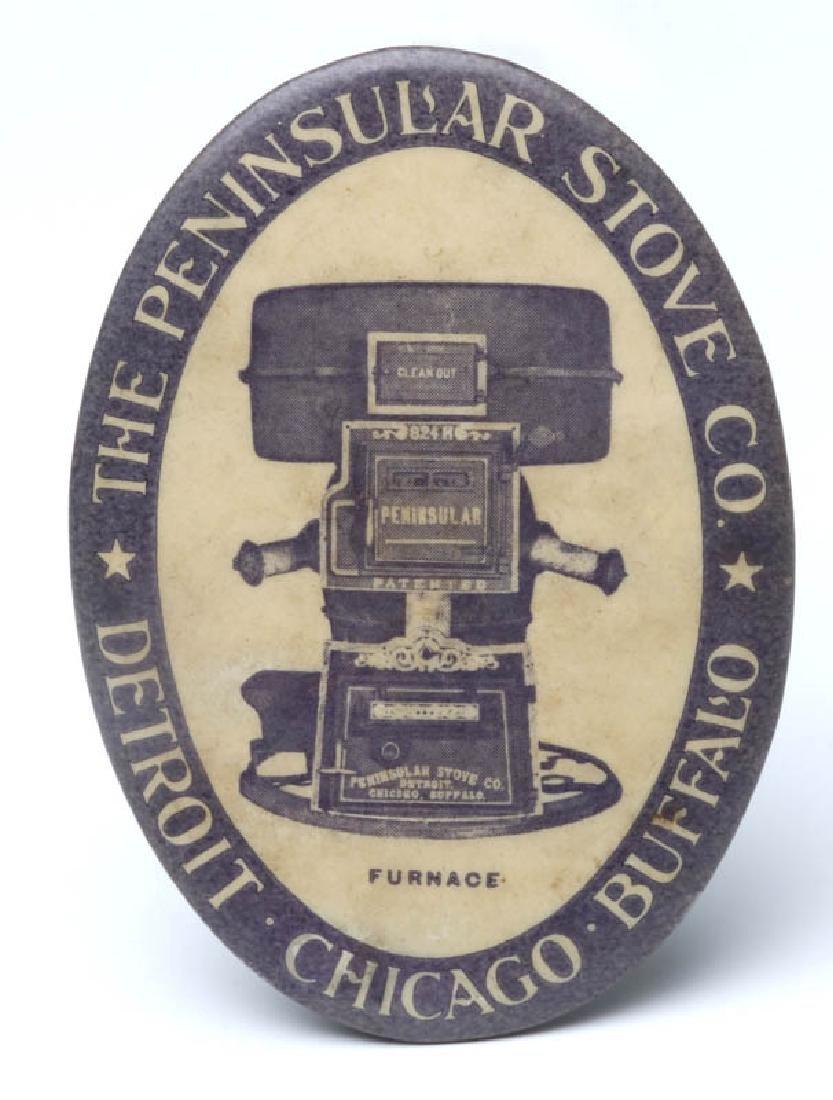 THE PENINSULAR STOVE CO. ADVERTISING POCKET MIRROR