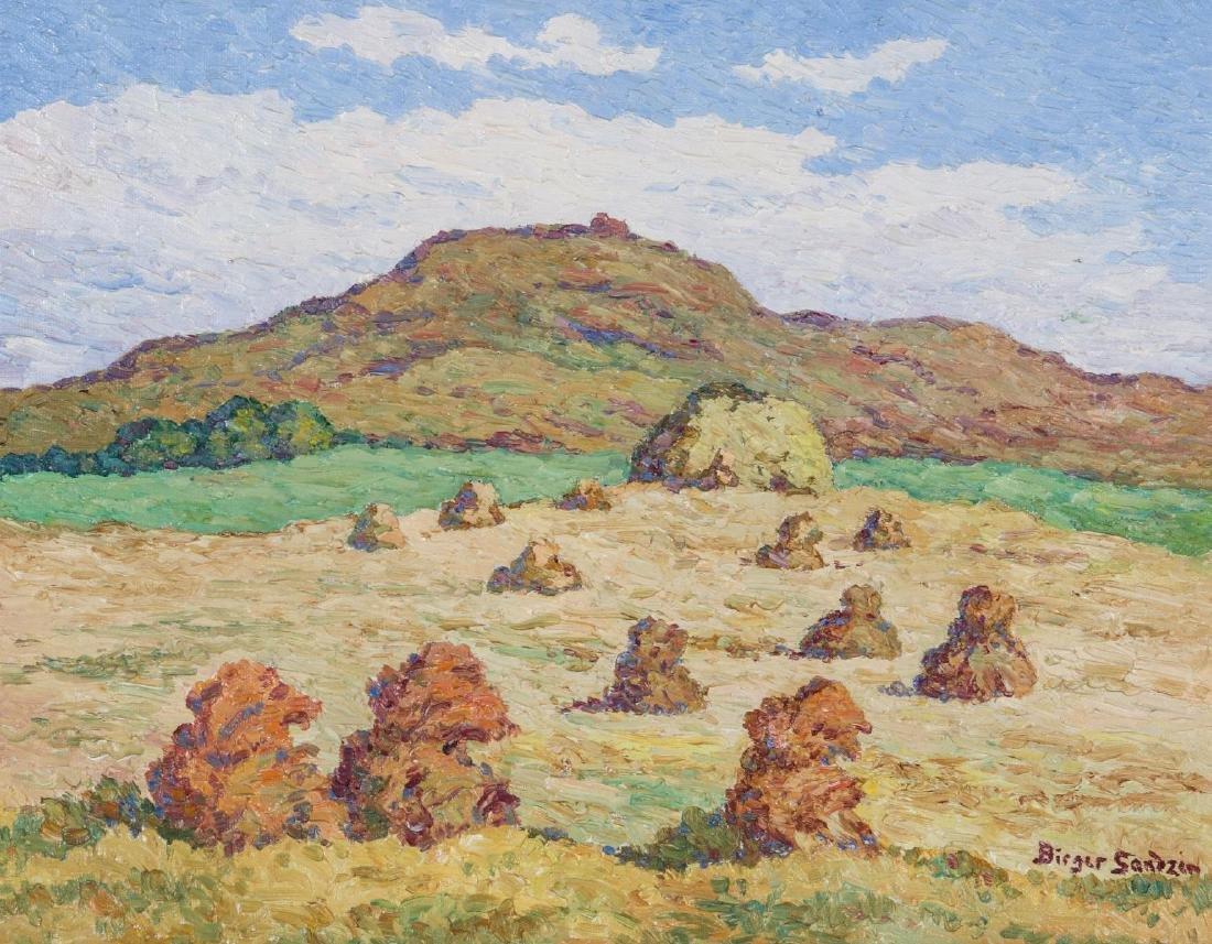 BIRGER SANDZEN (1871-1954) OIL ON BOARD