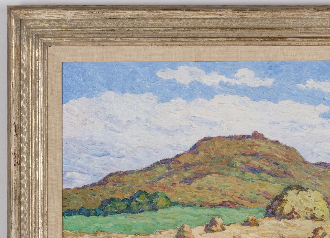 BIRGER SANDZEN (1871-1954) OIL ON BOARD - 3