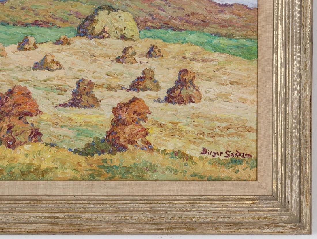 BIRGER SANDZEN (1871-1954) OIL ON BOARD - 5