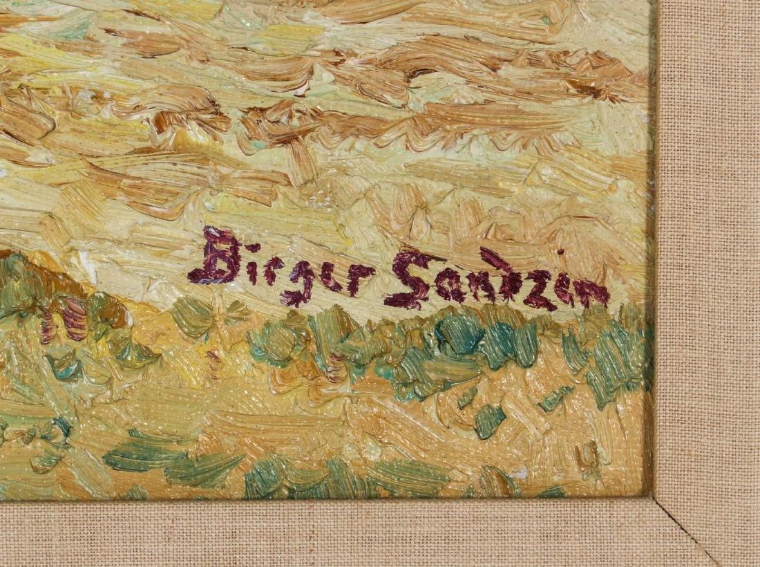 BIRGER SANDZEN (1871-1954) OIL ON BOARD - 7