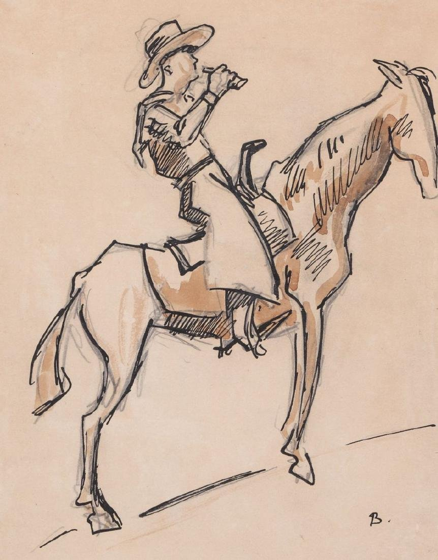 THOMAS HART BENTON (1889-1975) INK WASH C. 1930s
