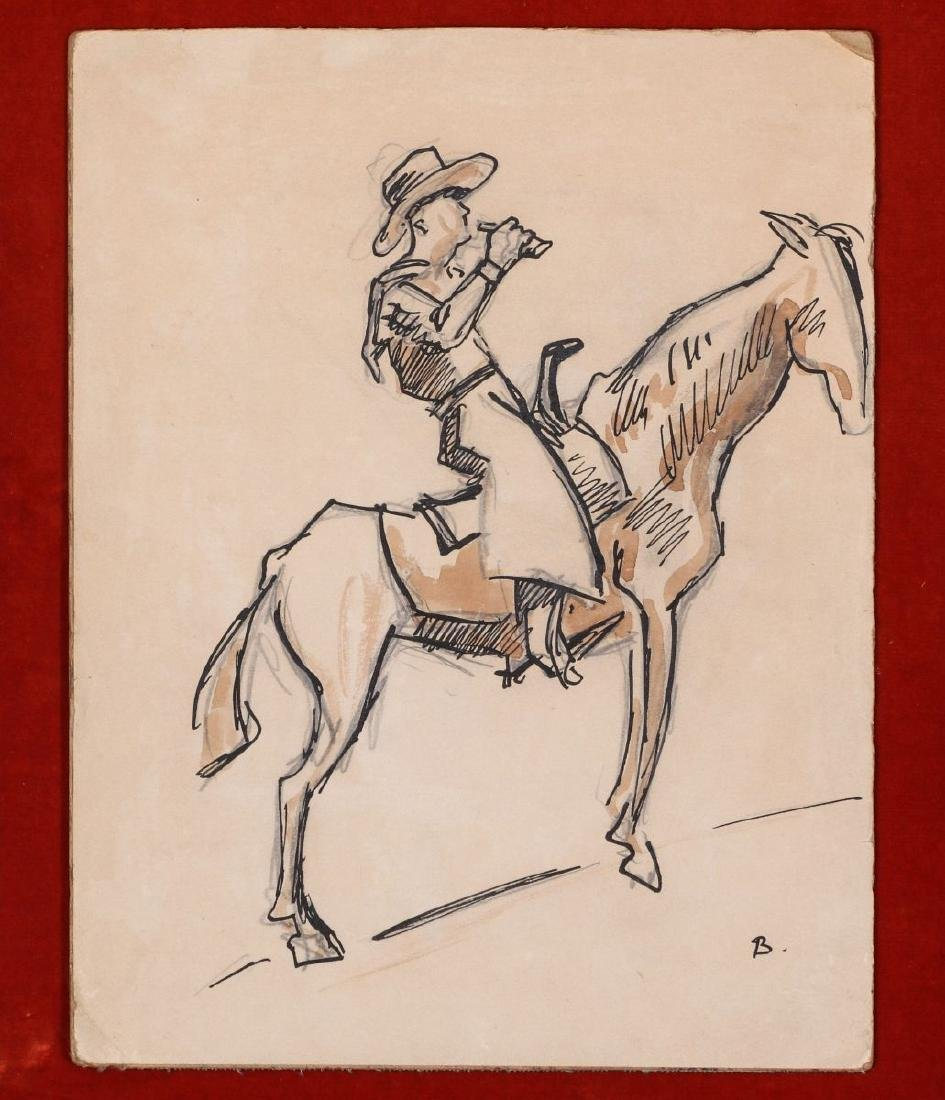 THOMAS HART BENTON (1889-1975) INK WASH C. 1930s - 2
