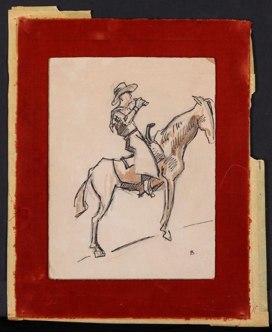 THOMAS HART BENTON (1889-1975) INK WASH C. 1930s - 3