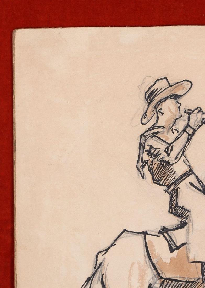 THOMAS HART BENTON (1889-1975) INK WASH C. 1930s - 4