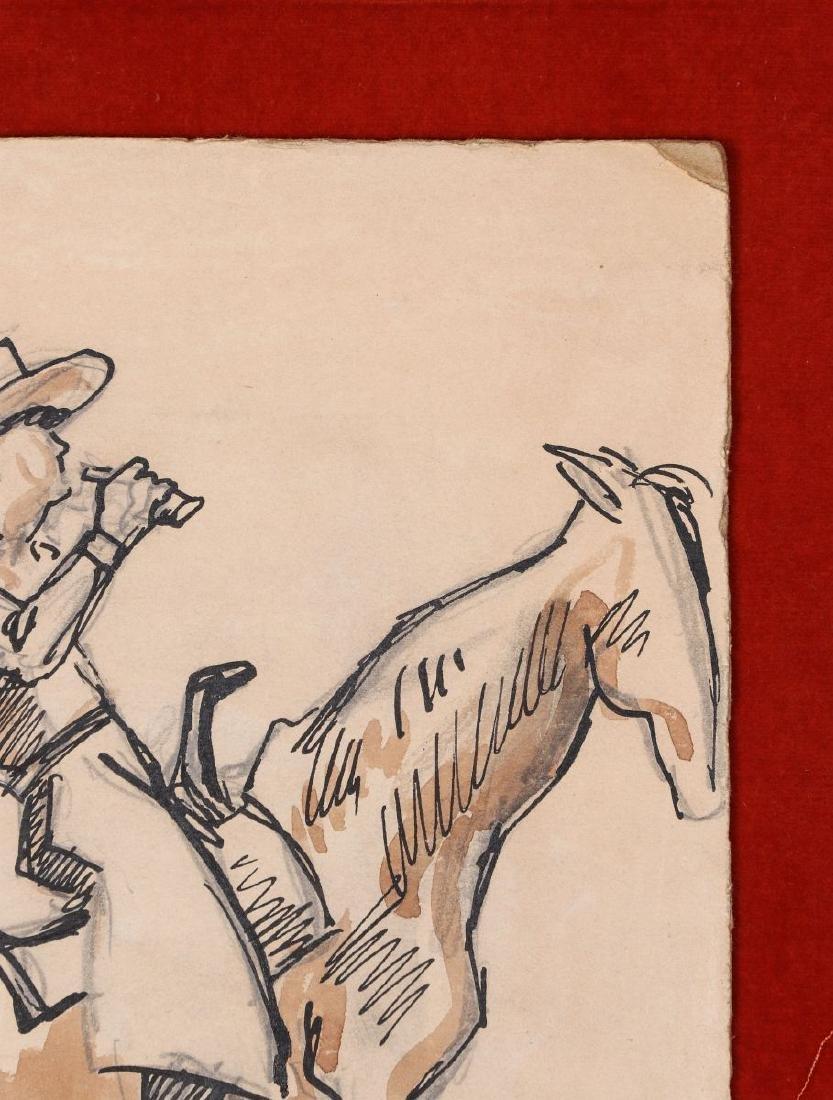 THOMAS HART BENTON (1889-1975) INK WASH C. 1930s - 5