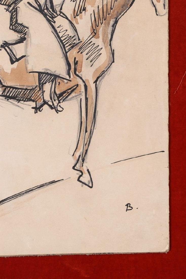 THOMAS HART BENTON (1889-1975) INK WASH C. 1930s - 6